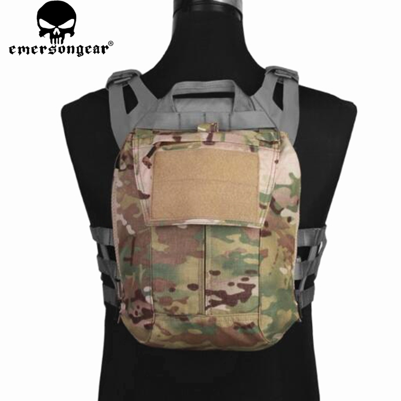 Emersongear Tactical Pack Zip-on Panel Multicam Plate Carrier Zip on Back Bag Hydration Carrier for CPC NCPC JPC 2.0 AVS Vest zip