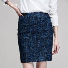 Винг женщин среднего юбка с вышивкой Женская мода до колена Длина юбки