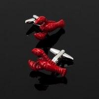 XK244 Upscale men's shirts, Cufflink, animal red lobster Cufflink, menswear, business shirt, clothing accessories
