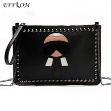 Luxury Handbags Women Bags Designer Monster Envelope Clutch Evening Purses Clutches Chain Crossbody Bags For Ladies Hand Bag women luxuriant vintage clutches new heart designs 2017 gold red big gem clutch designs handbags crossbody bags yls f05