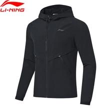 Li-Ning, Мужская ветровка с капюшоном для бега, пальто, обычная посадка, 92% полиэстер, 8% спандекс, подкладка, спортивная куртка AFDP017 CJFM19