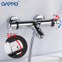 GAPPO Shower faucets mixer with thermostat mixer faucets thermostatic bath mixers wall mounted waterfall bathtub faucet