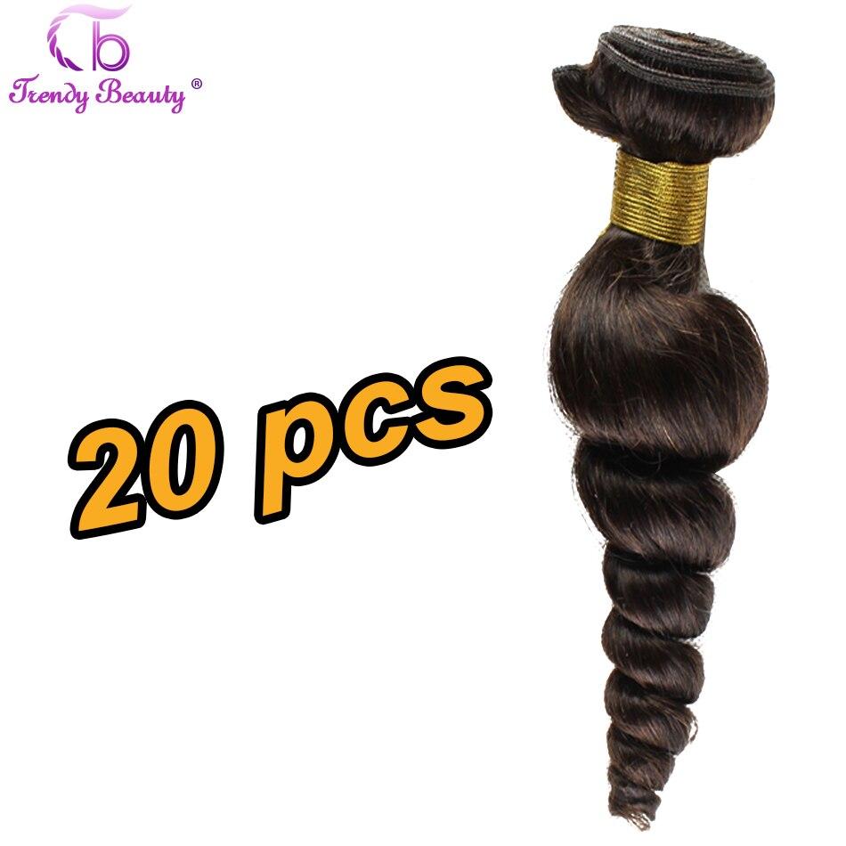 #1B Spiral Loose Wave Hair Weave Bundle 20 pcs Ready Warehouse Stock Low Price 100 Real Brazilian Human Hair Soft Slinky Smooth