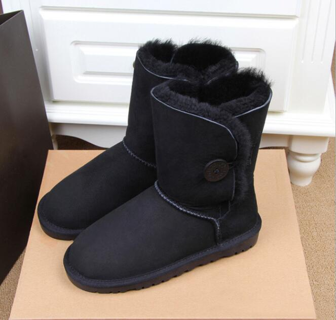 Brand Australia Women real fur Snow Boots 100% Genuine sheep Leather Boots Warm Winter Boots Woman shoes large size 34-44