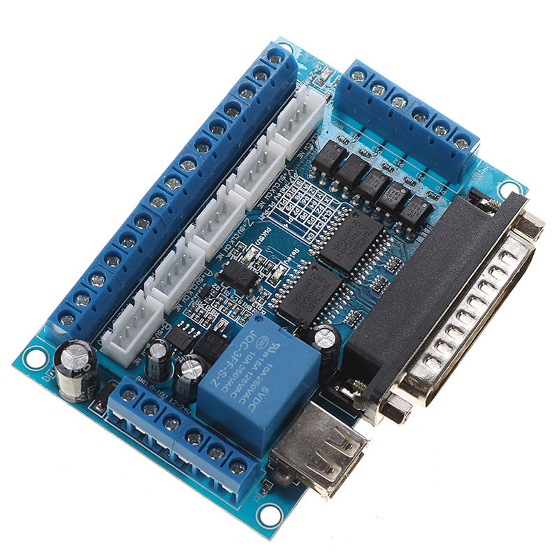 1pcs 5 Axis CNC Breakout Board Interface with USB Cable For Stepper Motor Driver MACH3 CNC Board Parallel Port Control