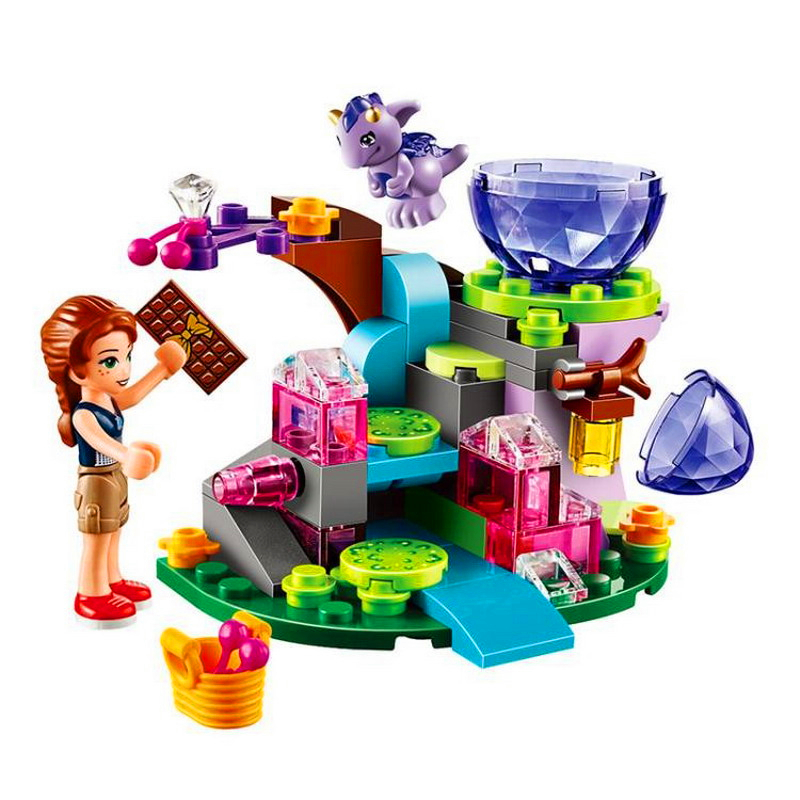 83Pcs Elves Emily Jones & Baby Wind Dragon Model Building Block Toys BELA 10499 Educational Gift For Children Compatible Legoe 10548 elves the precious crystal mine building block set naida farran figures baby dragon toys for children compatible 41177