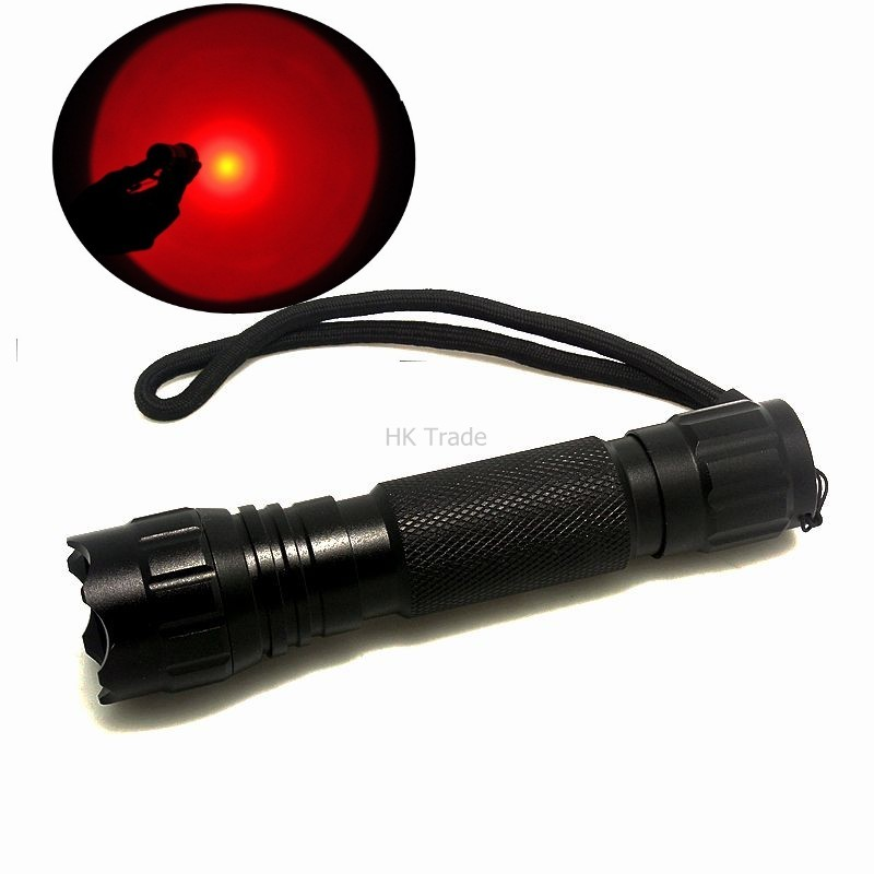501B Red/ LED Light 300 Lumen XPE Lanterna Mini Torch For Outdoor Hunting Tactical Flashlight