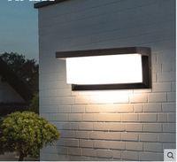 Lâmpada de parede ao ar livre à prova dwaterproof água moderno simples led cama ao ar livre villa jardim pátio corredor varanda lâmpada de parede