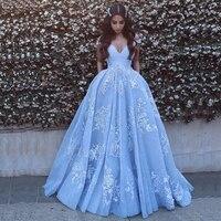 Элегантные с открытыми плечами Пром платья белого кружева аппликации голубой Вечерние платья Бесплатная Индивидуальный заказ линии импер