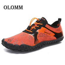 Summer new men's shoes outdoor knit mesh breathable five-finger casual shoes casual light hiking shoes ladies men's beach shoes