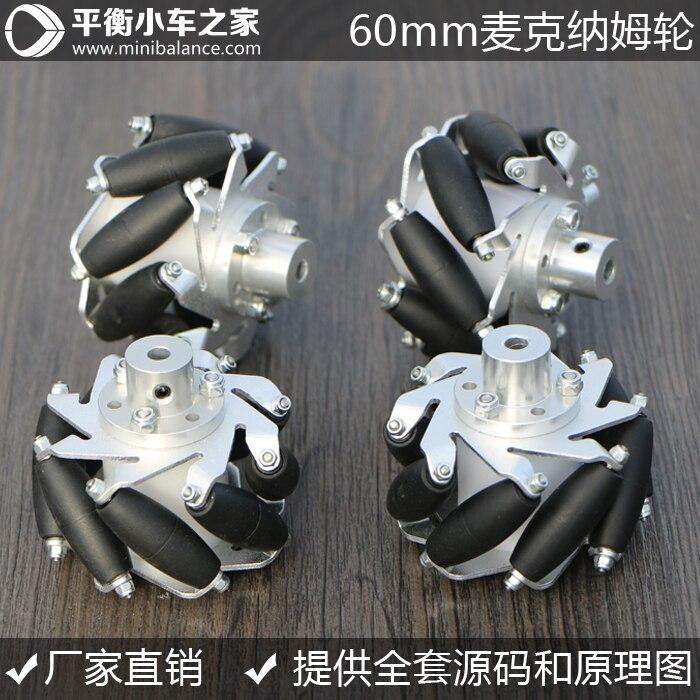 60mm Mm Wheel Diameter: Omni Directional Wheel Mecanum Wheel 4wd 60mm mecanum wheel arduino robot kit 10021