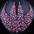 FARLENA JEWELRY Hot sale High Quality Crystal Rhinestones Necklace Set Fashion African Beads Jewelry Set