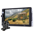 7 Дюймов TFT Автомобилей Аудио Стерео Сенсорный Экран 2 Дин MP5 плеер с Камерой Заднего Вида Bluetooth V2.0 Громкой связи AUX TF USB FM