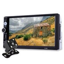 7 дюймов tft Аудиомагнитолы автомобильные стерео Сенсорный экран 2 DIN MP5 плеер заднего вида Камера Bluetooth 2.0 громкой связи AUX TF USB FM