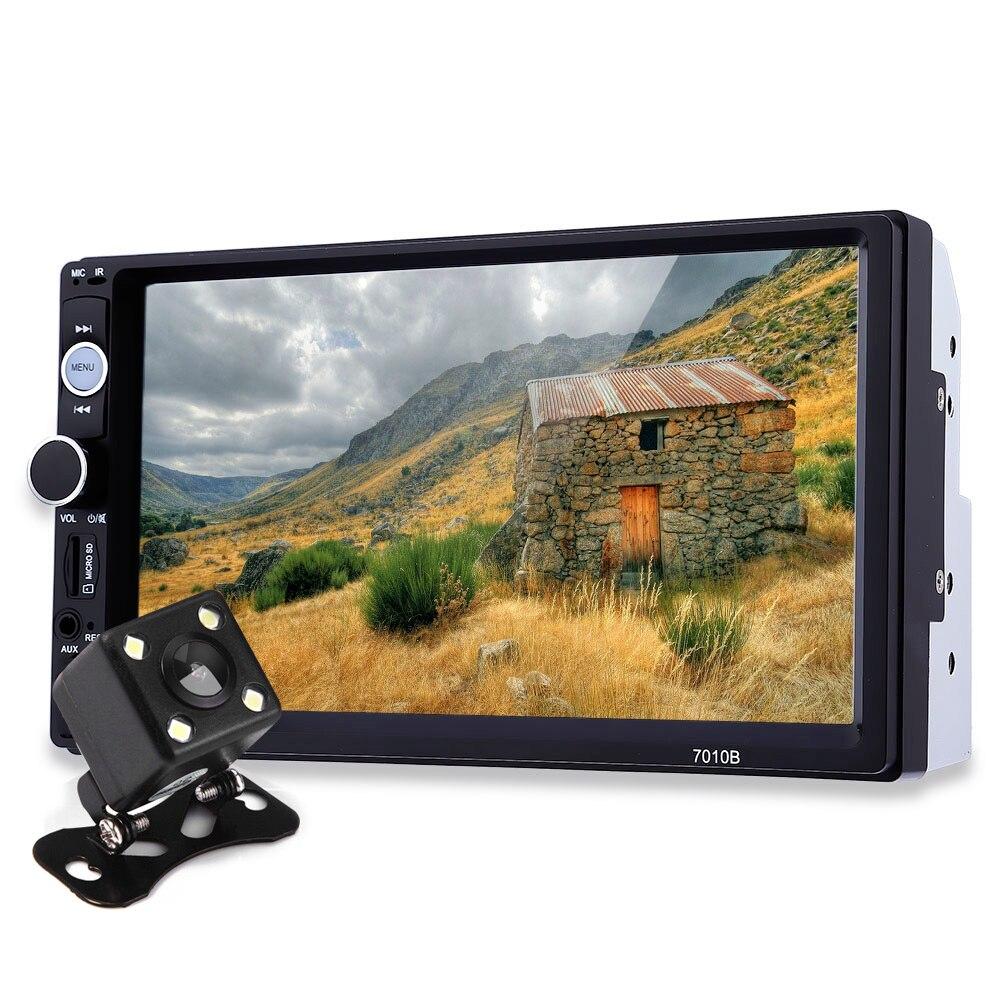 7 Pollice TFT Car Audio Stereo Touch Screen 2 Din MP5 lettore Telecamera per la Retromarcia Bluetooth 2.0 vivavoce Chiamata AUX TF USB FM