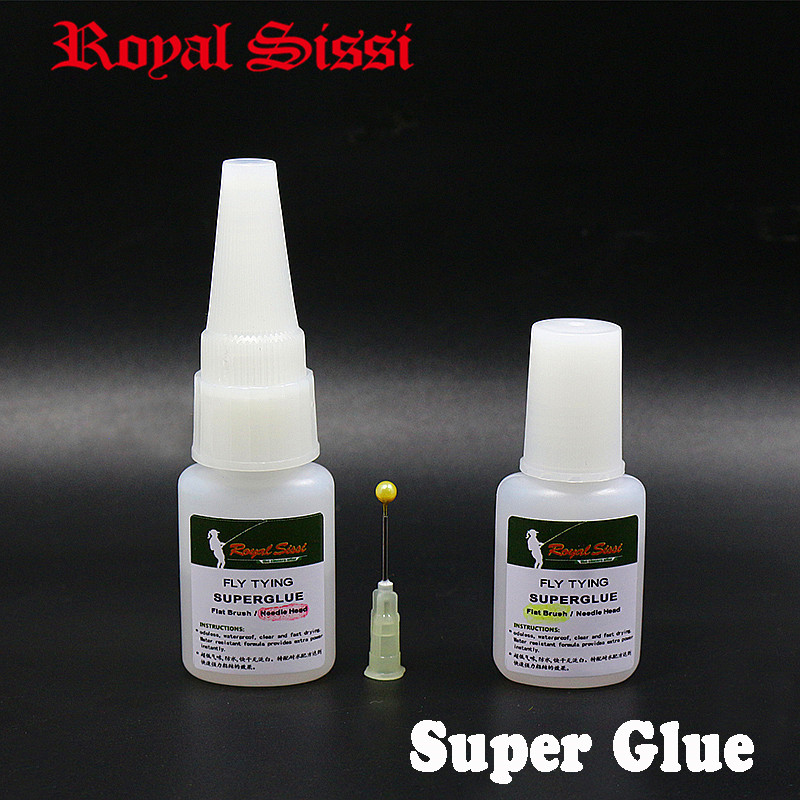 Royal Sissi 2bottles Set Odorless Fly Tying Superglue Waterproof Fast Drying Instant Crazy Glue Cyanoacrylate Fly Fishing Glue