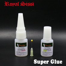 Royal Sissi 2bottles set odorless fly tying superglue waterproof fast drying instant crazy glue cyanoacrylate fishing