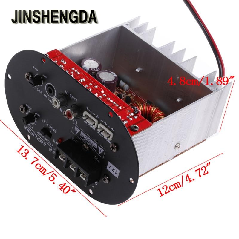JINSHENGDA Amplifier 120W 8-12 Core Tube 12V Car Tritone /Pure Bass Amplifier Board New