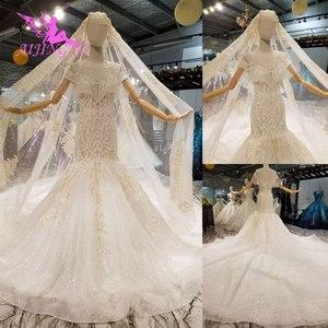 Image 2 - AIJINGYU Frocks düğün Couture abiye düğün 2021 2020 ipek kırpma üst türkiye hint uzun tren cüppe şeklinde gelinlik Vintage