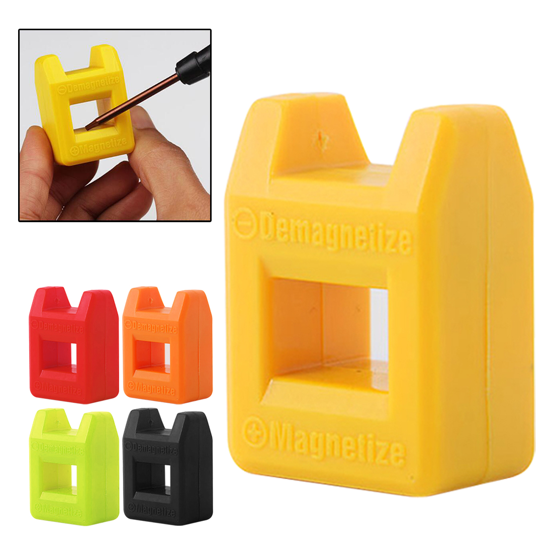 Desmagnetizador 2 en 1 herramienta Mini rápido 2 en 1 destornillador magnético herramientas de mano de color al azar