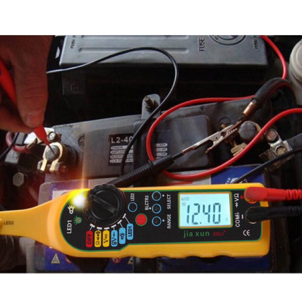 Herramienta de diagn/óstico el/éctrico de reparaci/ón de Autom/óviles KIMISS Multifuncional Probador de Circuito del Coche Mult/ímetro