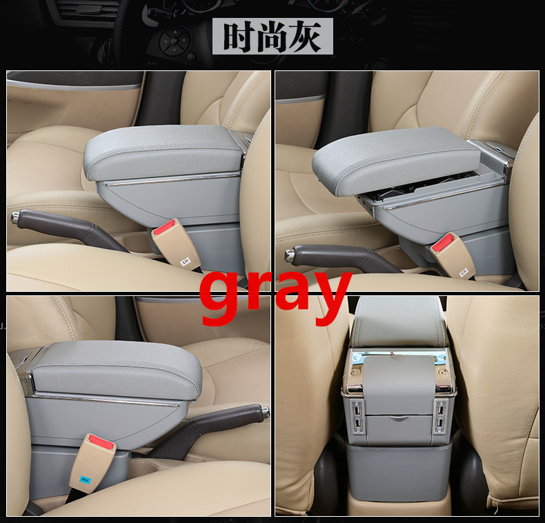 SZSS-CAR Leather Car Interior Parts Center Console Armrest Box for Volkswagen VW Santana Jetta Auto Armrests Storage with USB