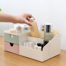Desktop Mini Storage Box Case Pen Holder Plastic Cosmetics Organizer Container Dressing Table Finishing
