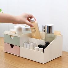 Desktop Mini Storage Box Case Pen Holder Plastic Cosmetics Organizer Container Dressing Table Finishing