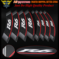 "Hot sales High Quality Motorcycle rim strips ""R6"" logo Stickers wheel decals for Yamaha R6"