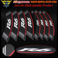 Hot sales High Quality Motorcycle rim strips R6 logo Stickers wheel decals for Yamaha R6
