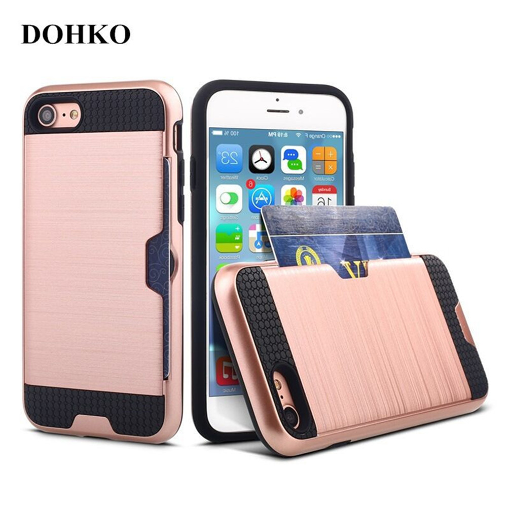 Dohko Wire Drawing Case For Iphone 7 Plus Slim Armor Cover M M5 Ppwerbank 5000 Mah Silver Shell Apple Back Iphone7 Pin Check