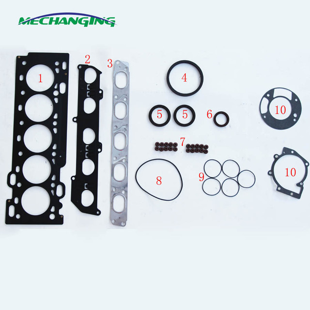 US $36 1 5% OFF|B5254T3 B5254T6 For VOLVO S40 S80 C30 T5 HYDA HUWA METAL  Full Set Overhaul Package Auto Parts Engine Gasket 50284000 on  Aliexpress com