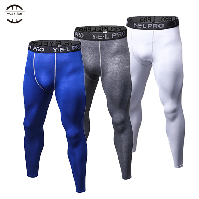 2c6f00f00c471 White Mens Compression Pants Gym Men Fitness Sports Running Leggings Sport Tights  Dry Fit Training Compression