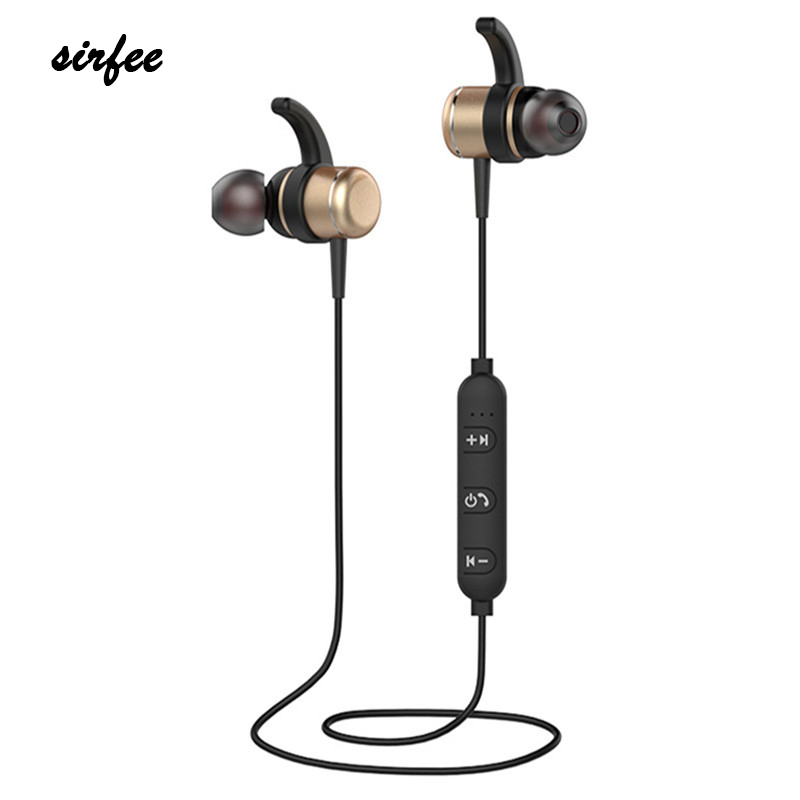 New Sports Bluetooth Headset Wireless Earbud with Built-in Microphone Automatic Magnetic Earphones Headphone For Smartphones