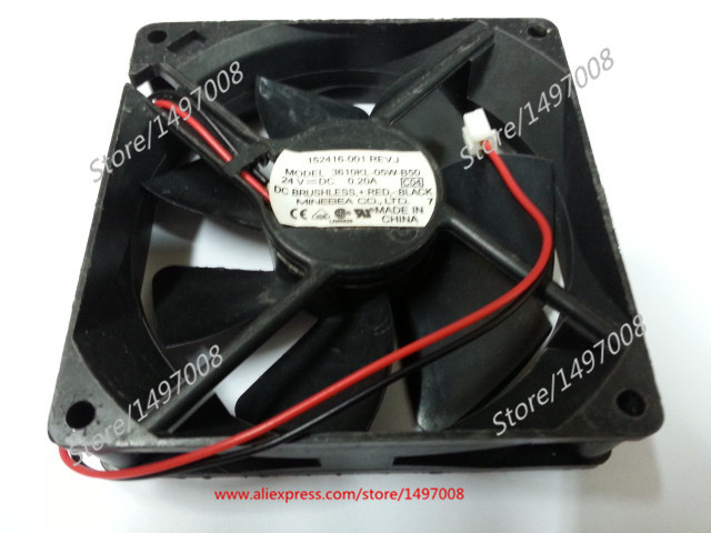 Free Shipping For  NMB  3610KL-05W-B50 C04  DC 24V 0.20A 2-wire 92x92x25mm Server Square cooling fan free shipping 24v dc mig welding wire feeder motor single drive 1pcs