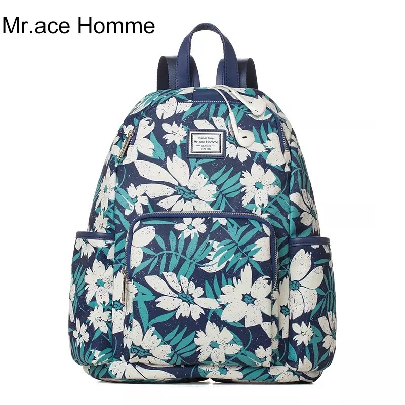 Super Backpack brand high quality flower printing school bags for ladies girls 2017 new designer original fashion travel bags