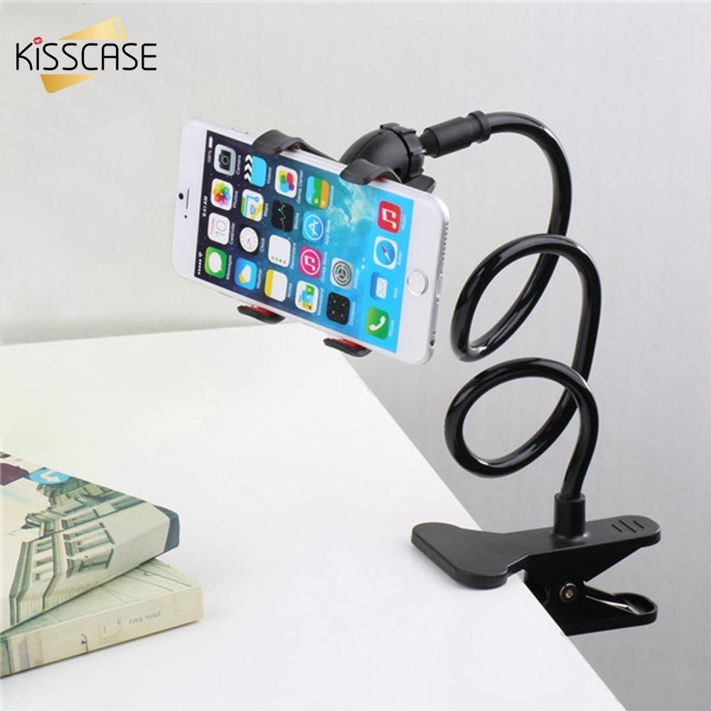 KISSCASE регистрации мобильного телефона держатель для samsung S9 S8 Примечание 8 Универсальный держатель для iPhone X 7 8 6 плюс стоять кровать клип Подде... ...