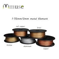 500g 30 40% Metal Material 3D Filament, 1.75mm 3mm Copper/Brass/Aluminum/Bronze Metallic Content Filament For 3D Printer