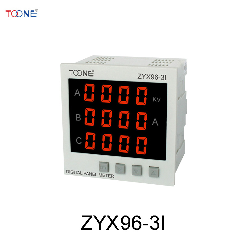 Three - phase AC digital display intelligent ammeter ZYX96-3I / SX96 * 96 three phase ac digital display intelligent current and voltage table zyx96 3ui two in one power meter