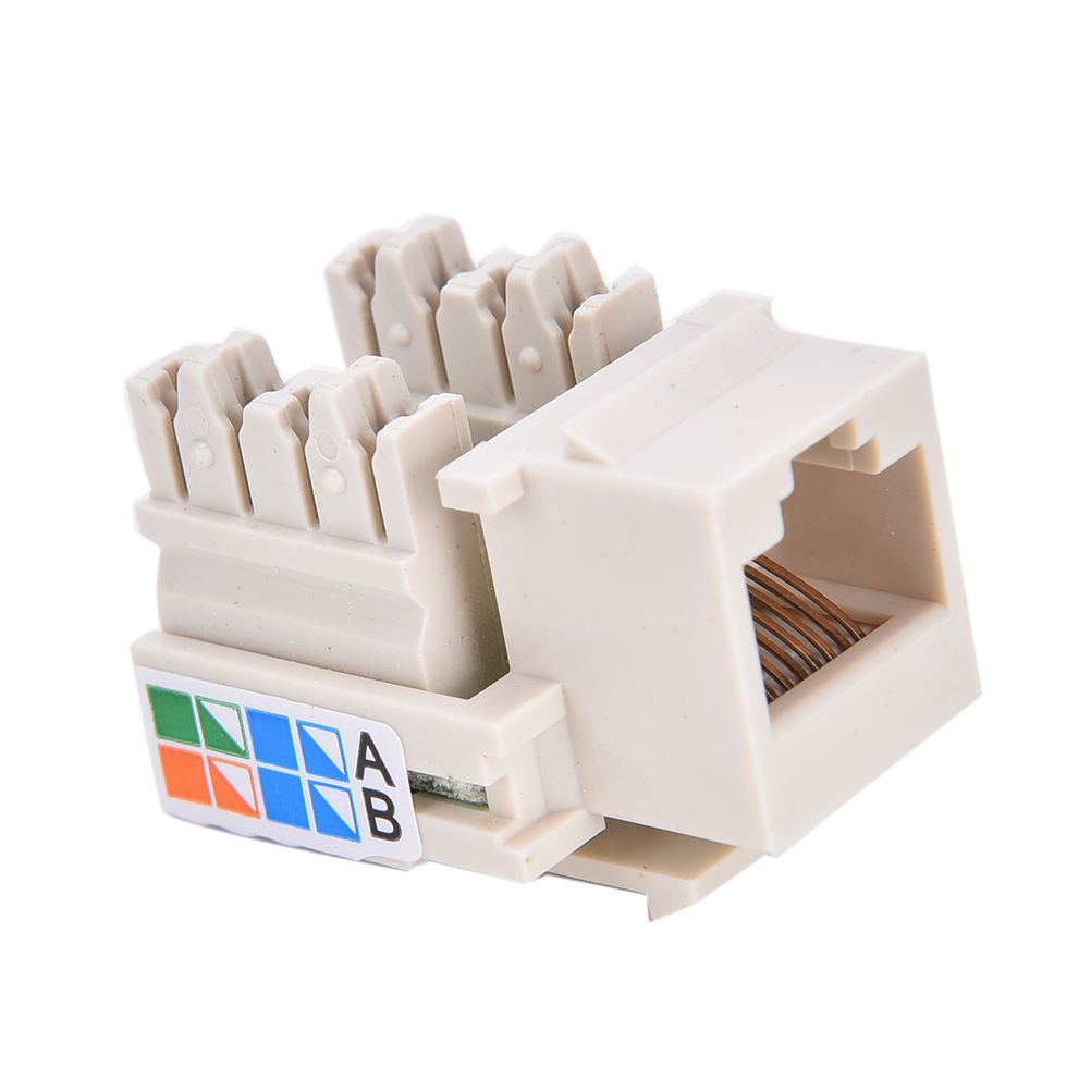Rj45 Punch Down Keystone Jack Cat5 Network Ethernet White 3cm X Cat 5 Wiring Diagram Wall Prise 1x Aeproductgetsubject