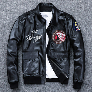 Image 3 - MAPLESTEED Bomber Flight Jacket Men 100% Natural Calf Skin Jacket Soft Air Force Pilot Leather Jackets Mens Coat Autumn M194