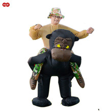 Costumes inflatable chimpanzee oranguta unisex T-rex fancy dinosaur kids disfraces party outdoor game cosplay toy riding-animal