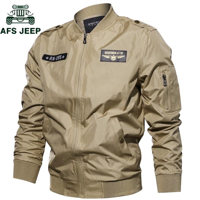 1b58ea16 Nueva chaqueta de bombardero de primavera y otoño de 2018 para hombre  Jaqueta masculina talla grande 6XL militar de la Fuerza Aérea chaqueta de  vuelo ...