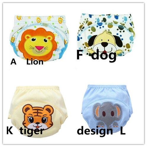 4 Pcs/lot Baby Diapers Children Reusable Underpants Breathable Diaper Cover Cotton Training Pants 13-16kg