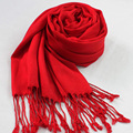 High Quality Red Chinese Style Cotton Scarves Solid Color Tassels Shawl Wrap Soft Warm Pashmina hijab Poncho Size 180*70cm NP035