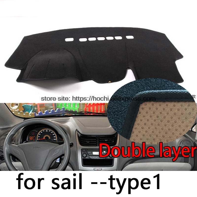 For chevrolet sail 2010-2016 Double layer Silica gel Car Dashboard Pad Instrument Platform Desk Avoid Light Mats Cover Sticker for toyota crown 2004 2016 double layer silica gel car dashboard pad instrument platform desk avoid light mats cover sticker