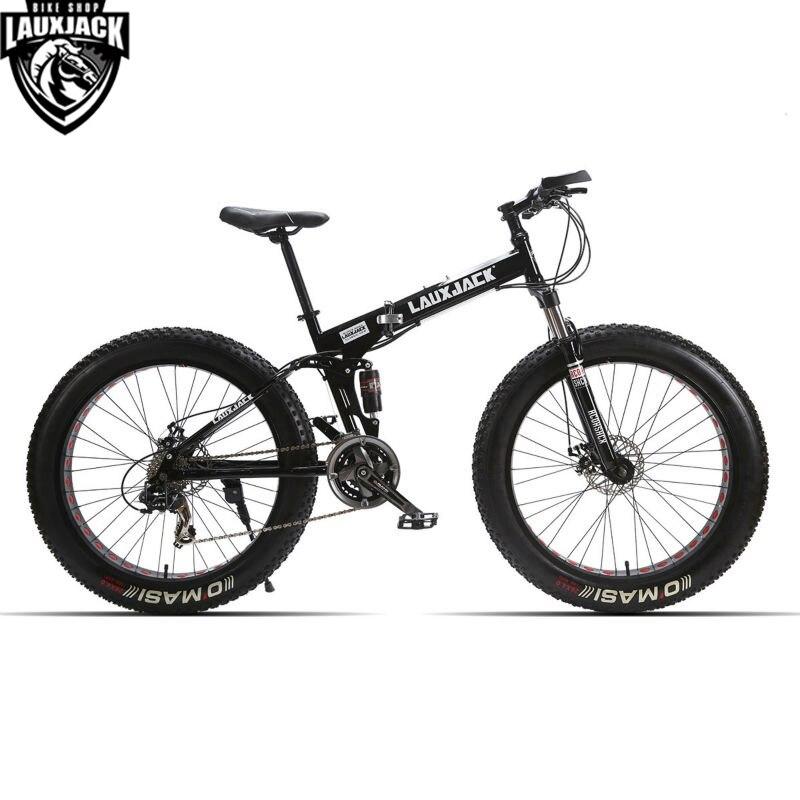 LAUXJACK montaña bici suspensión completa estructura de acero ...
