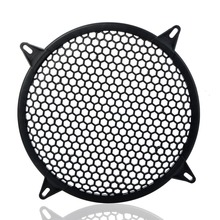 Car Audio Speaker Sub Woofer Grille Guard Protector Cover 6 inch Black Metal Mesh Round Subwoofer