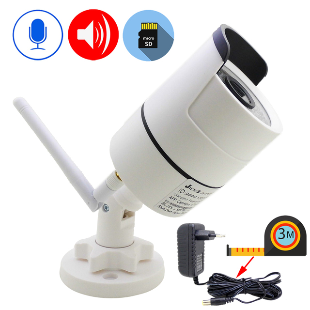 IP המצלמה Wifi 1080P 960P 720P חיצוני אבטחת CCTV מעקב 3 מטר כוח מתאם אלחוטי אודיו Onvif HD מצלמת בית מצלמה