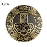 [Haotian vegetarian] Chinese antique copper big Zhangmu Xiang sub box buckle clasp HTN-071 Blossoming 18CM